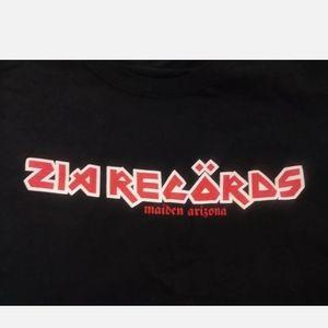 Zia records Iron Maiden font t-shirt 3xl